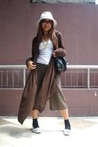 tokyo hat - People are People coat - GU pants - tokyo shoes