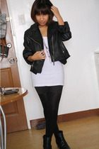 Forever21 jacket - Forever21 top - from japan tights - from japan boots