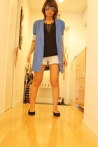 from Shibuya sunglasses - Zara blazer - Forever21 top - shorts - shoes