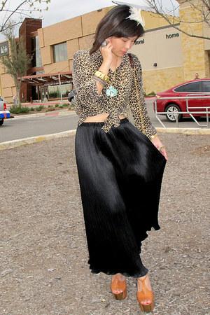 crimson Rebecca Minkoff bag - gold vintage accessories - black vintage skirt - c