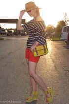 mustard Callanan hat - yellow keeper satchel asos bag - red H&M shorts - yellow