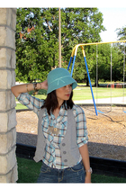 Gap hat - Forever 21 vest - Forever 21 shirt - Paris Blues jeans - Forever 21 ac