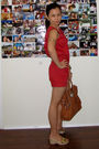 red KAT - gold vnc shoes - brown Michael Michael Kors purse - gold NY&Company Am