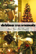 Christmas Tree Ornaments From Your Own Closet