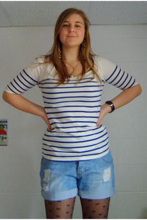 Charnos tights - Primark shorts - asos t-shirt