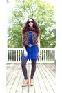 Navy-express-dress-dark-brown-nordstrom-tights-louis-vuitton-scarf