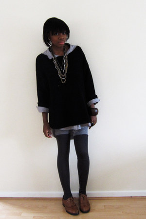 Topshop sweater - weekday shirt - Urban Outfitters tights - H&M socks - Office s