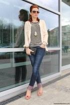 Musette shoes - glittering nude Zara coat - Zara jeans - Musette purse