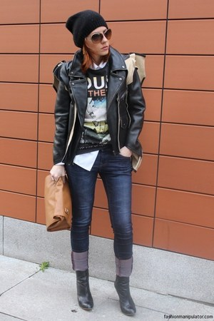 Zara boots - Esprit hat - Maison Martin Margiela for H&M jacket - Zara bag