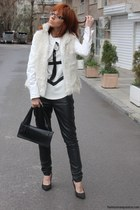 Zara shirt - Zara shoes - Maison Martin Margiela for H&M bag