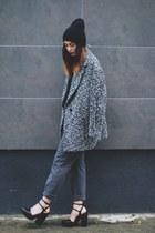gray H&M coat - gray Zara pants