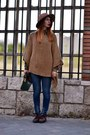 Burnt-orange-zara-hat-green-loewe-bag-brown-zara-jumper