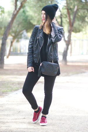 black Bershka jeans - black Gucci bag