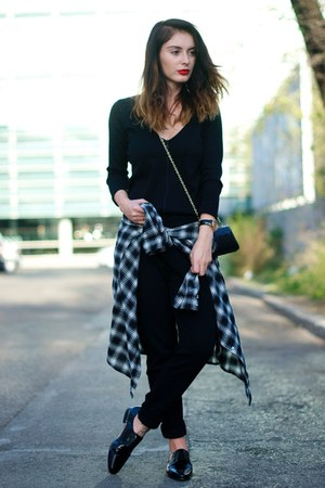 shirt - black Zara pants