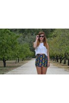 bubble gum elastic H&M skirt - off white algodon H&M top