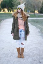 Zara jeans - light orange Accessorize boots - camel Zara jacket