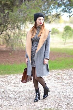 silver Zara jacket - black Zara boots