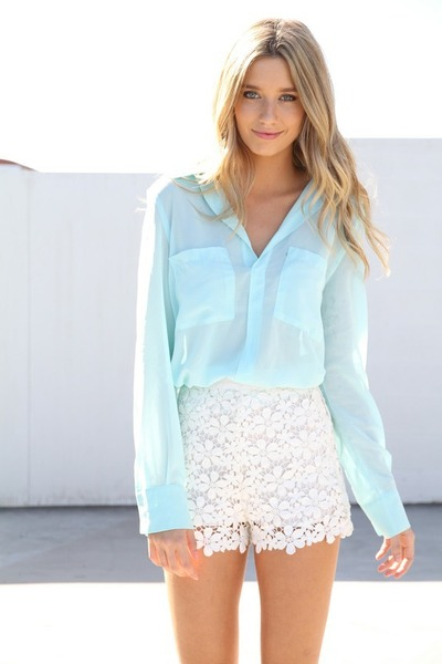 sheer flowy sabo skirt blouse