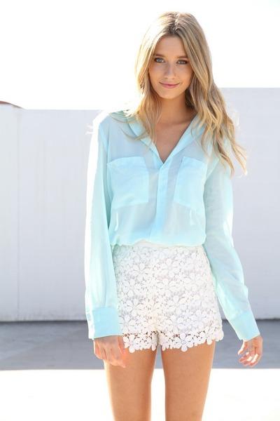 sheer flowy sabo skirt blouse