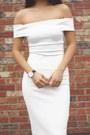 White-off-shoulder-zara-dress-black-ankle-strap-zara-heels