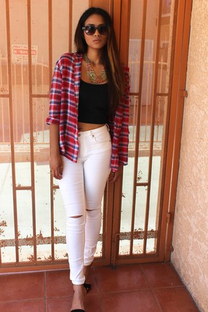 Forever21 jeans - plaid Urban Outfitters shirt