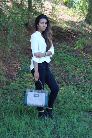 Guess watch - calvin klein bag - Urban Outfitters sandals - Forever 21 top