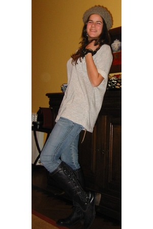 pull&bear jeans - Zara t-shirt - boots