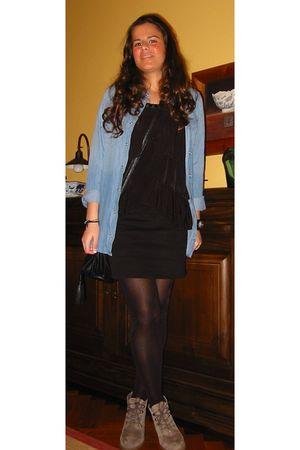 Zara boots - Zara skirt - H&M top - shirt