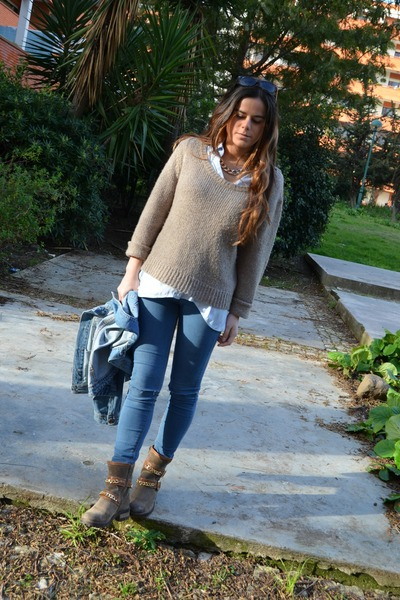 Pull & Bear jacket - H&M sweater