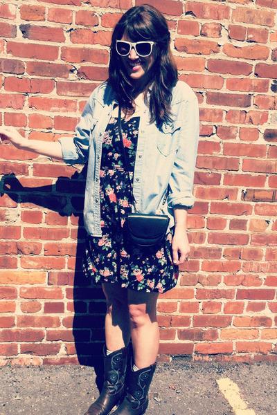 TJ Maxx dress - white Urban Outfitters sunglasses