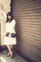 cream Old Navy sweater - pleated cream Forever 21 skirt