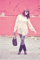 grey suede Mossimo boots - white wayfarers Urban Outfitters sunglasses