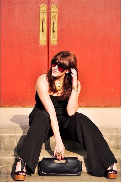 black Charlotte Russe wedges - Forever21 sunglasses