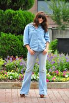 denim LMI jeans - black platform Charlotte Russe wedges