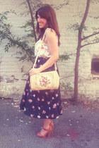 floral Sugarlips top - platforms Charlotte Russe heels