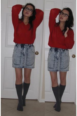 lacepipe sweater - random brand skirt - Forever 21 socks