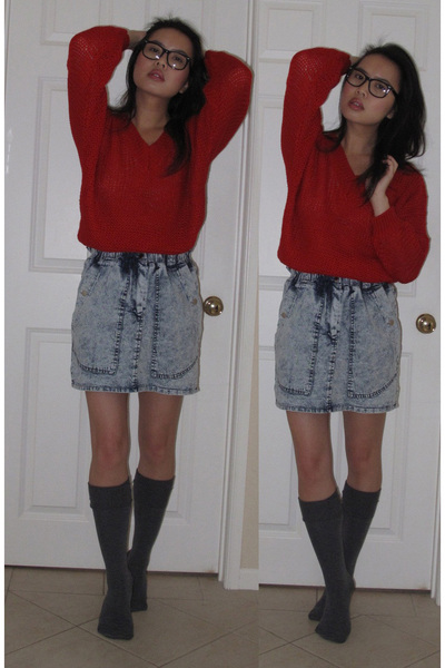 "Lacepipe Sweaters, Random Brand Skirts, Forever 21 Socks | ""red ..."