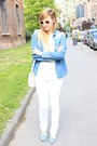 White-h-m-sweater-sky-blue-zara-shirt-white-zara-bag