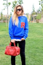 Varsity style sweatshirt