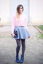 silver OASAP skirt