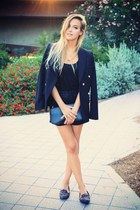 black Mango blazer - black Zara shorts - black Rings and Tings necklace