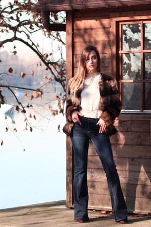 navy Stradivarius jeans