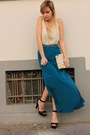 Ivory-zara-bag-teal-primark-skirt-black-zara-sandals-bronze-primark-belt