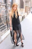black H&M dress - black BLANCO bag - black Miss Kg sandals