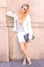White-zara-blazer-navy-zara-bag-white-zara-shorts-white-zara-sunglasses