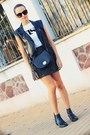 Black-benetton-bag-army-green-zara-skirt-white-pull-bear-t-shirt