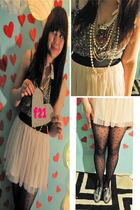 purple Forever 21 dress - pink Forever 21 skirt - black Forever 21 stockings - s