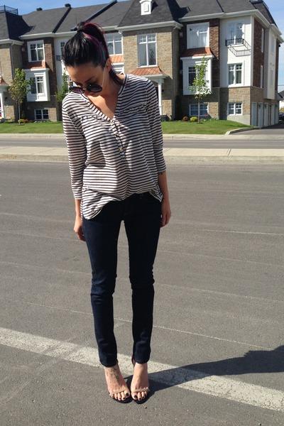 Paige jeans - H&M shirt - Steve Madden heels