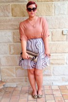 coach bag - dior sunglasses - Paul Smith skirt - vince top