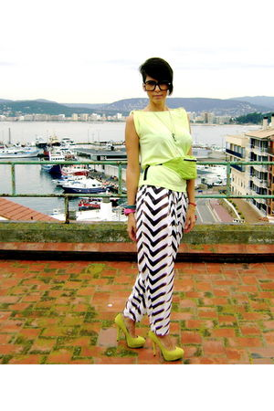 green Steve Madden shoes - green DN - Fashion Stole My Mind bag - white DN